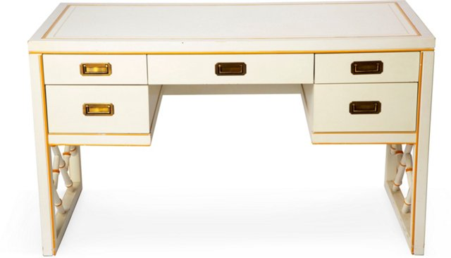 White Bamboo Desk