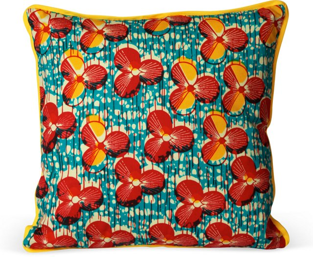 Graphic African Pillow III