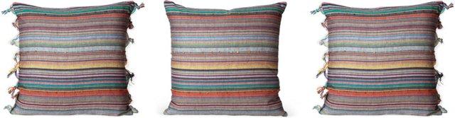 Multi-Stripe Tassel Pillows, Set of 3