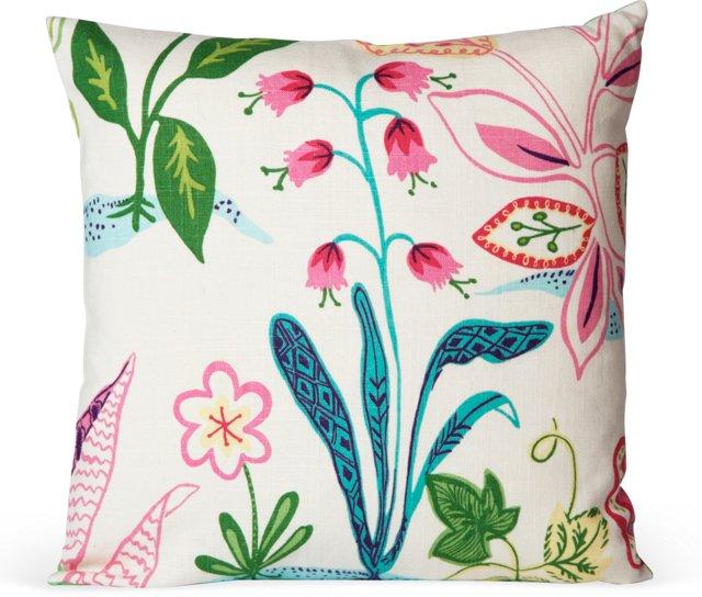 Frisky Floral Pillow II