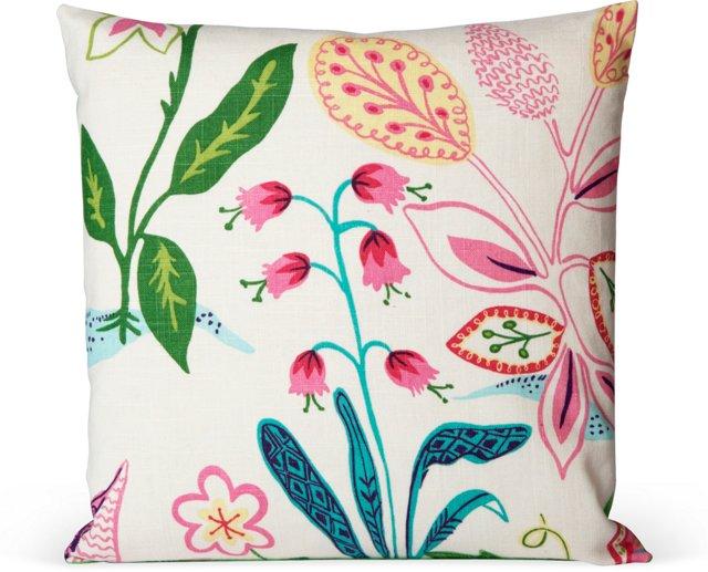 Frisky Floral Pillow IV