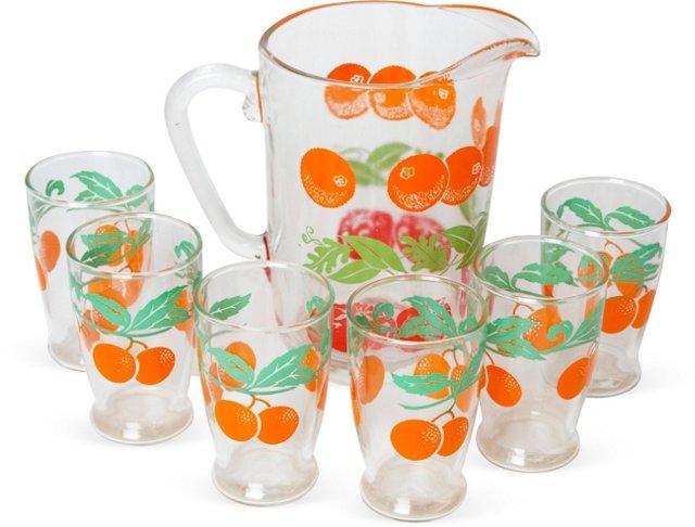 Orange Juice Set, 7 Pcs.
