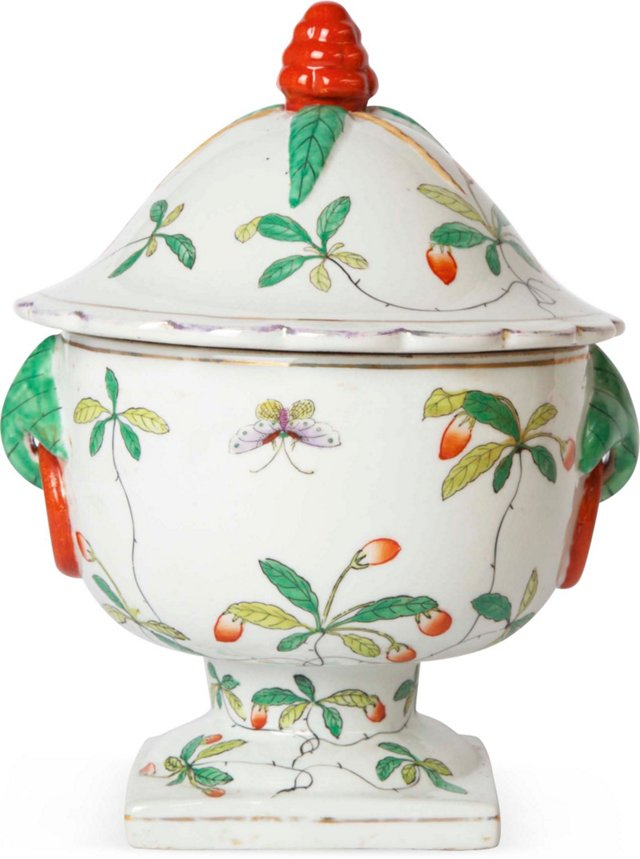 Lidded Floral Container