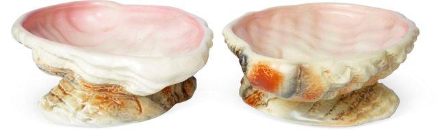 English Shell Bowls, Set of 2