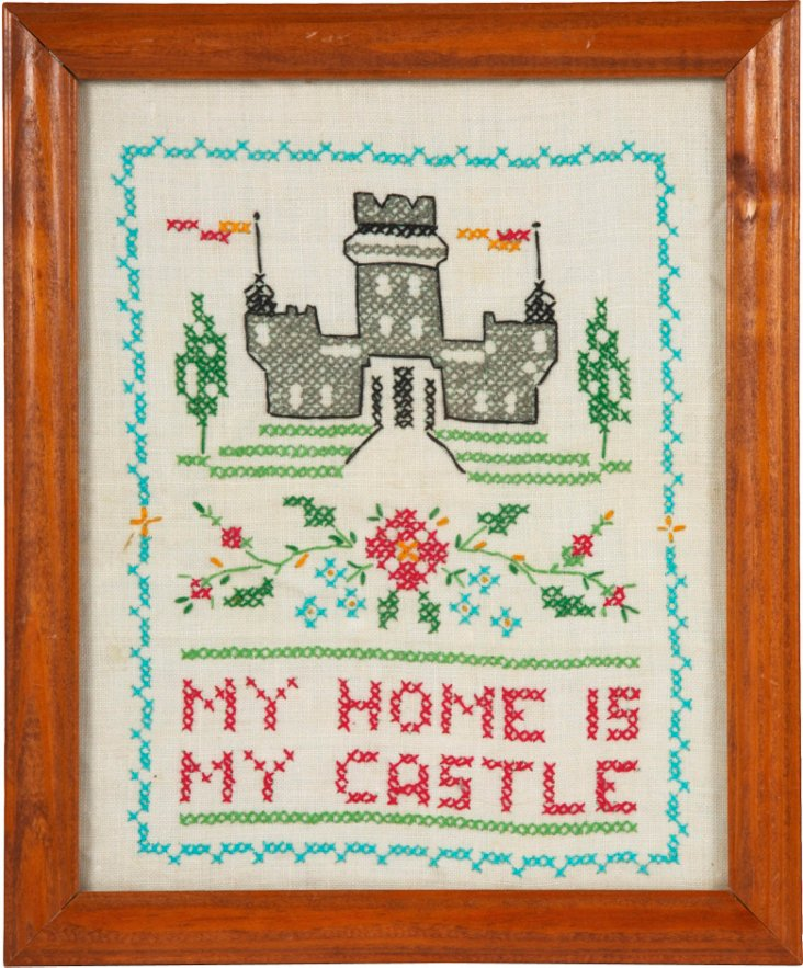 My Home is My Castle Needlepoint