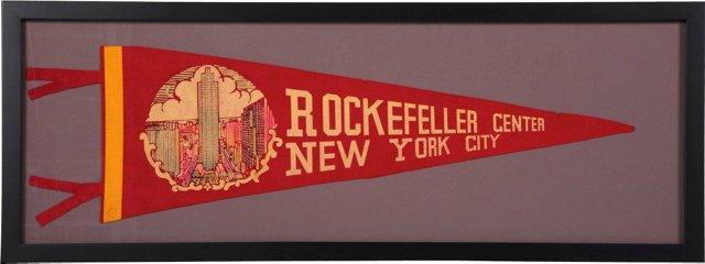 Rockefeller Center Pennant