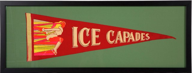 Retro Ice Capades Pennant