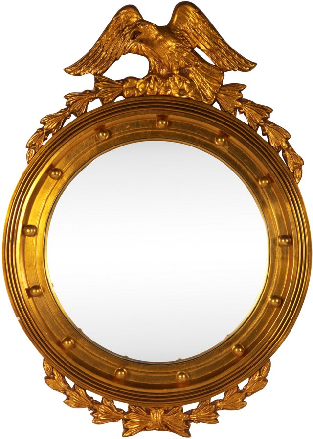 Gold-Painted Federal-Style Mirror