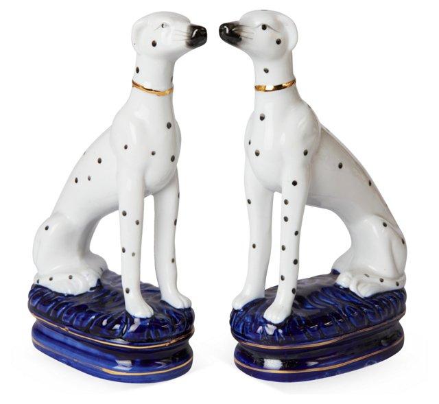 Dog Statuettes, Pair