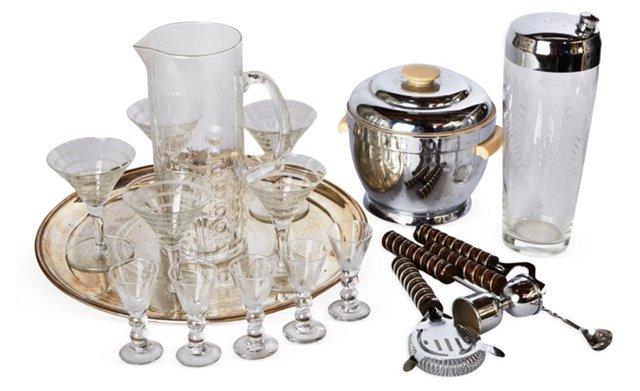 Art Deco Drinks Set, 18 Pcs.