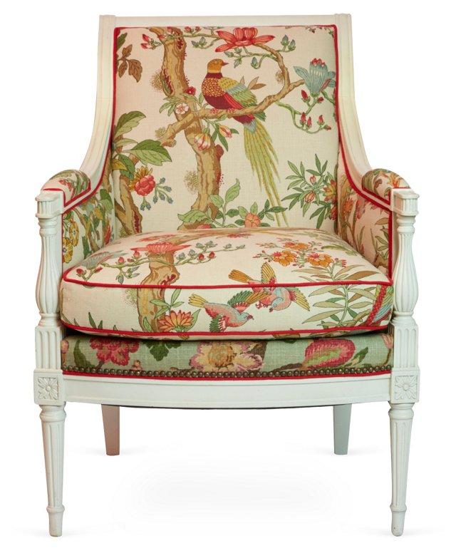 Bird & Floral Armchair