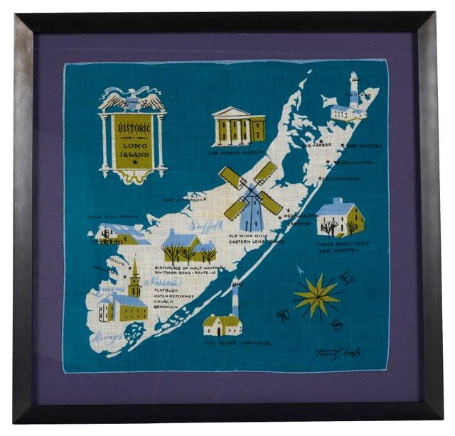Framed Long Island Handkerchief
