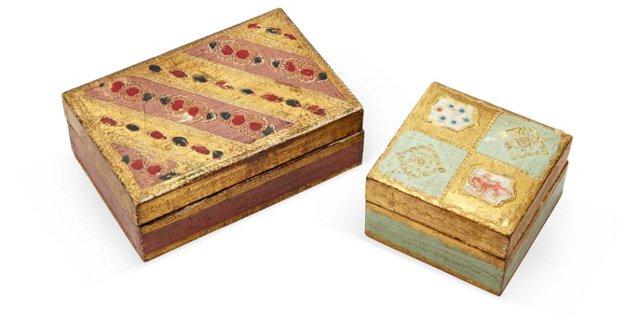 Florentine Wood Boxes, Set of 2