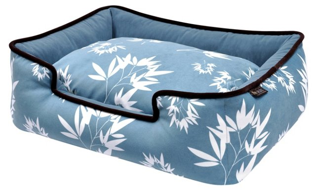 Lounge Bamboo Bed, Ocean Blue/Ash