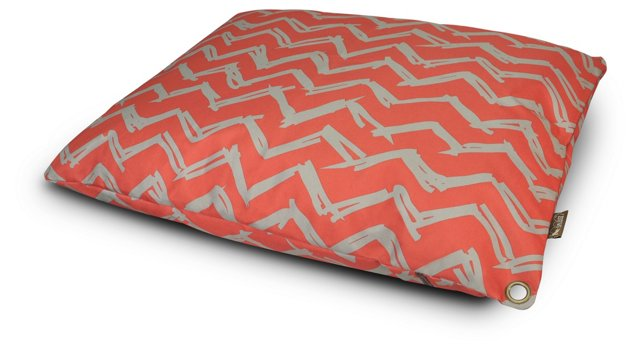 Chevron Outdoor Bed, Red