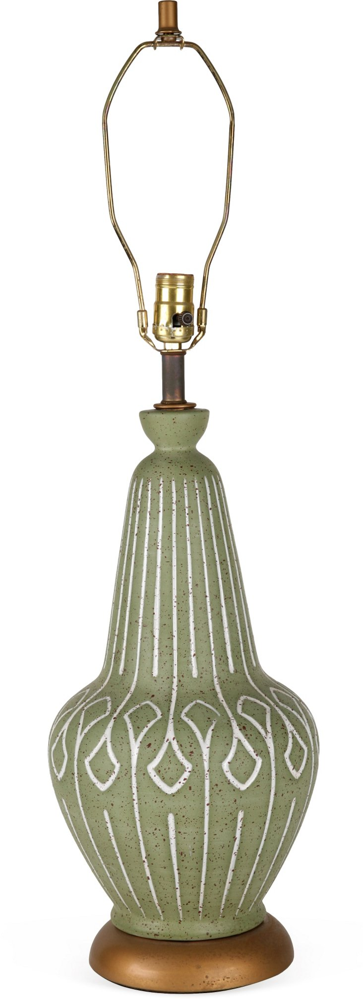 1950s Green Table Lamp