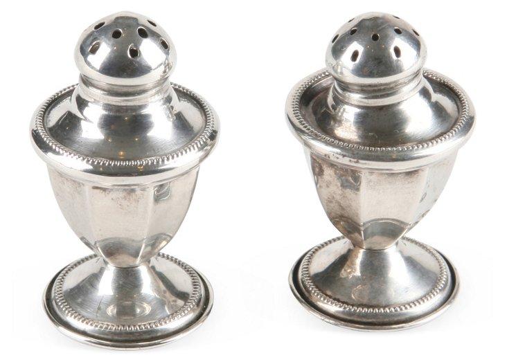 Footed Sterling Salt & Pepper Shaker