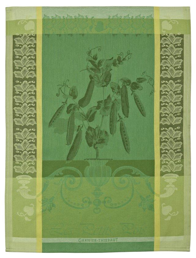 S/4 Kitchen Towels, Petits Pois Vert