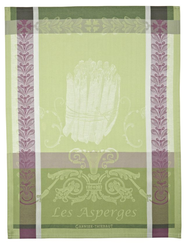 S/4 Kitchen Towels, Les Asperges