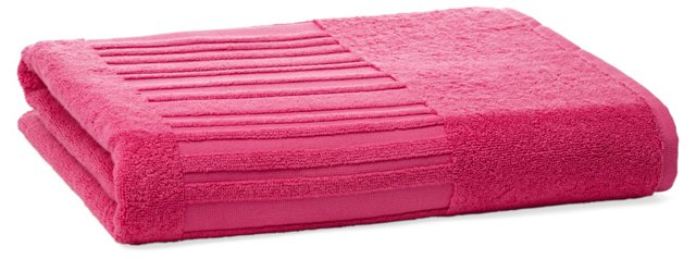 Spa Bath Sheet, Raspberry