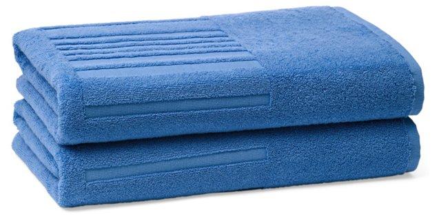 Set of 2 Spa Bath Towels, Lagon