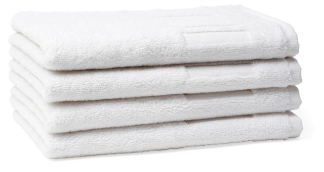 S/4 Spa Guest Towels, White