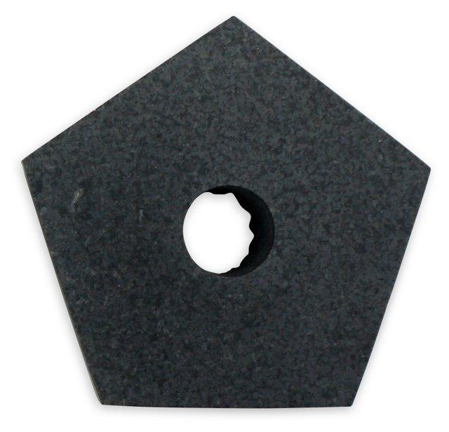 Black Granite Pentagon Candleholder