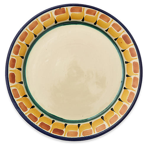 Hand-Painted Pottery Salad Plate
