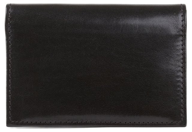 Leather Gusset ID Card Case, Black