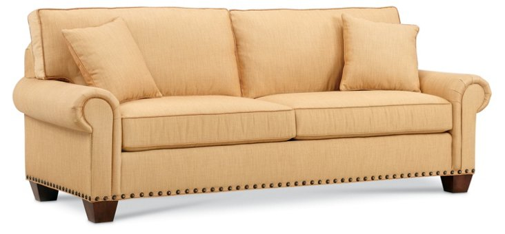 "Redgrave 89"" Queen Sleeper Sofa, Camel"