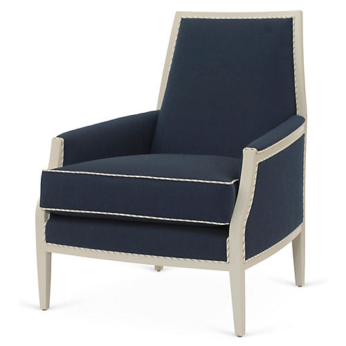 Bergen Chair, Indigo Sunbrella