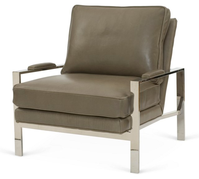 Mesa Chair, Slate Leather