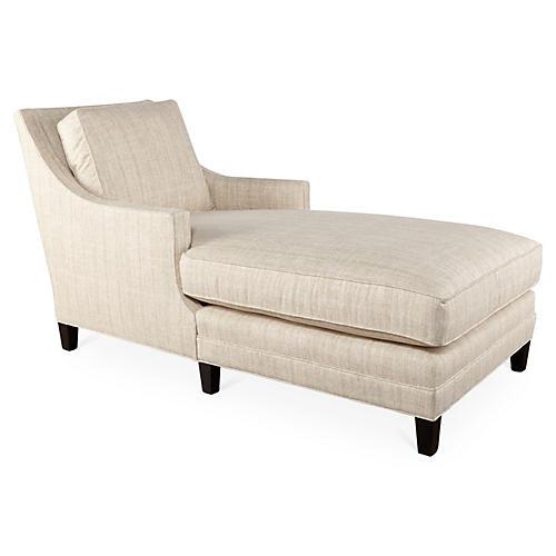 Salon Chaise, Ivory Sunbrella