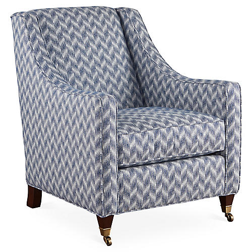 Bella Club Chair, Blue Sunbrella