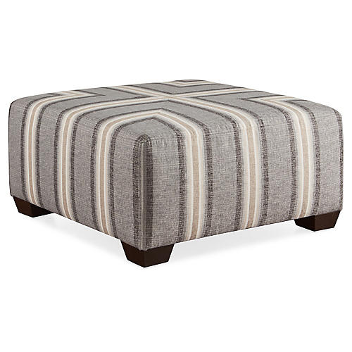 Gable Cocktail Ottoman, Gray Sunbrella