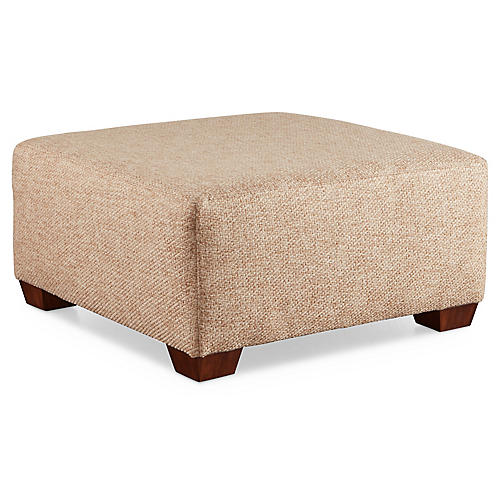 Gable Ottoman, Natural