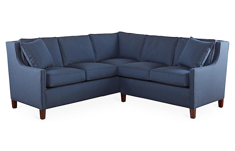 Joie Sectional, Navy Sunbrella