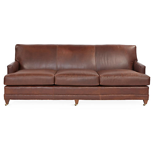 Maxfield Sofa, Bourbon Leather