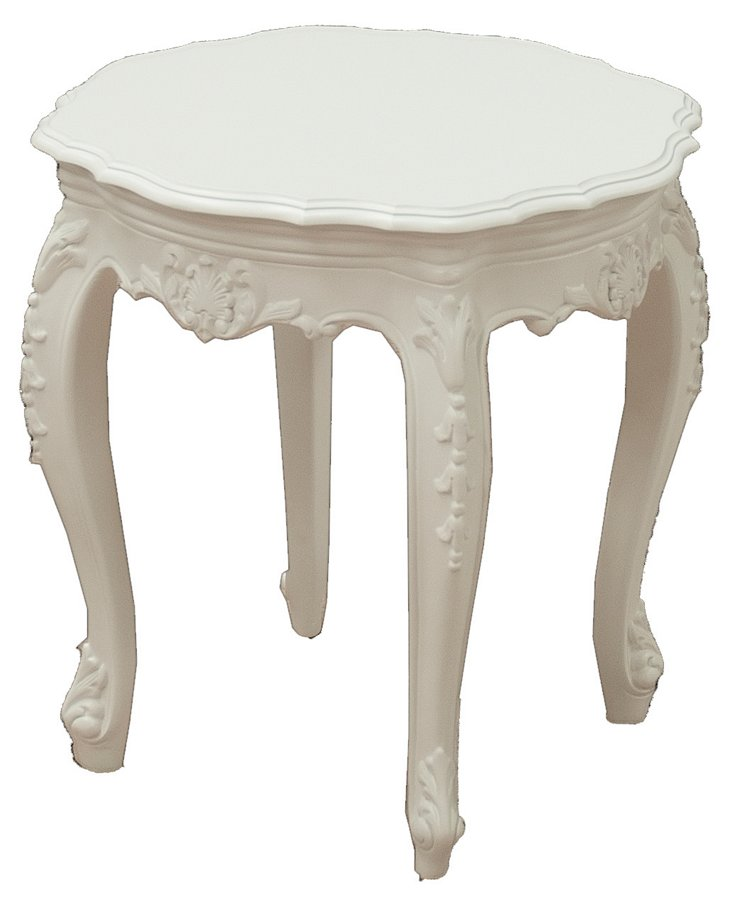 Tuileries Outdoor Side Table, White