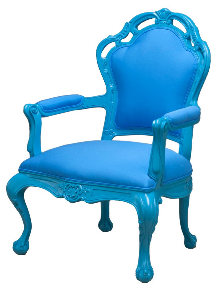 Tuileries Outdoor Armchair, Blue