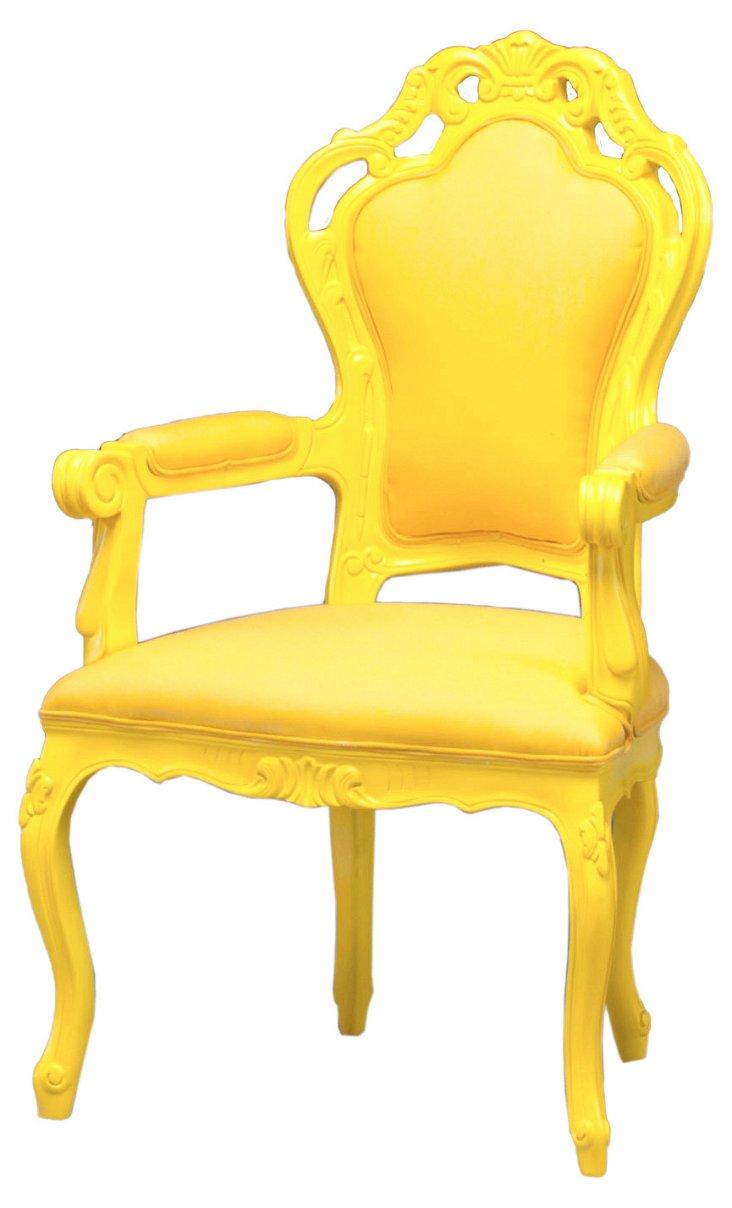 Antoinette Outdoor Armchair, Yellow