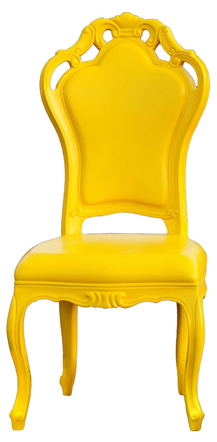 Fontainebleau Outdoor Chair, Yellow