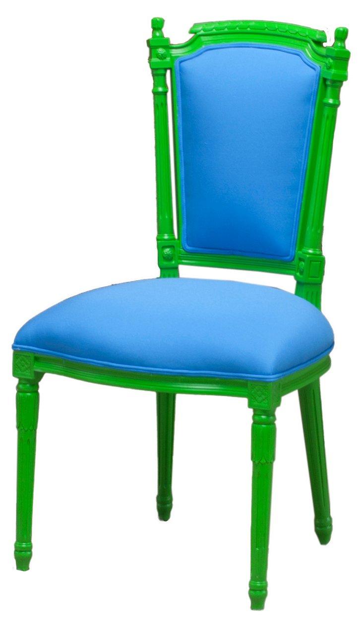 Belvedere Outdoor Chair, Green/Blue