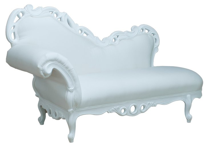 Bagatelle Outdoor Chaise, White