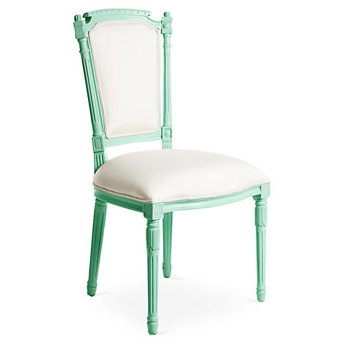 Bristol Outdoor Chair, Mint/White