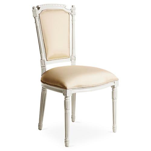 Bristol Outdoor Chair, White/Beige