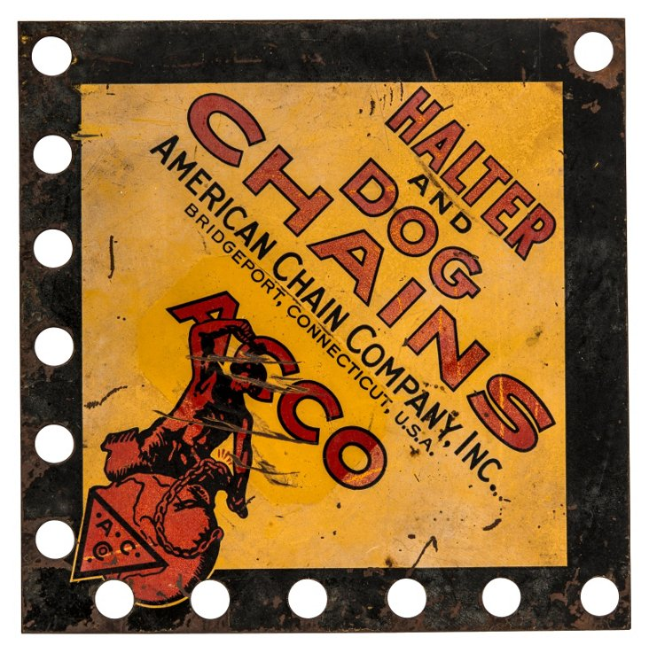 Halter & Dog Chains Sign