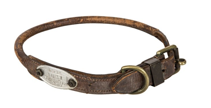 Vintage Rolled Leather Collar