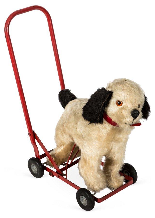 Stuffed Rolling Dog Cart