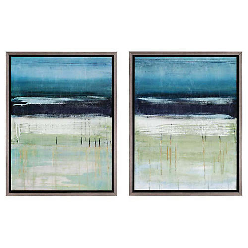 Sea and Sky Diptych